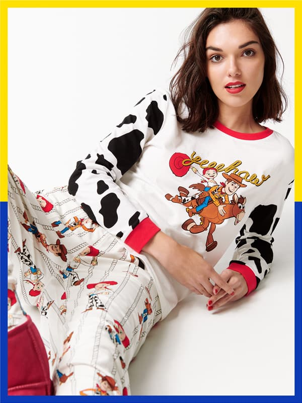 8c1078ee9a Your favourite cowgirl Jessie has arrived with a new range of women's PJs in  bright prints and soft fabrics.