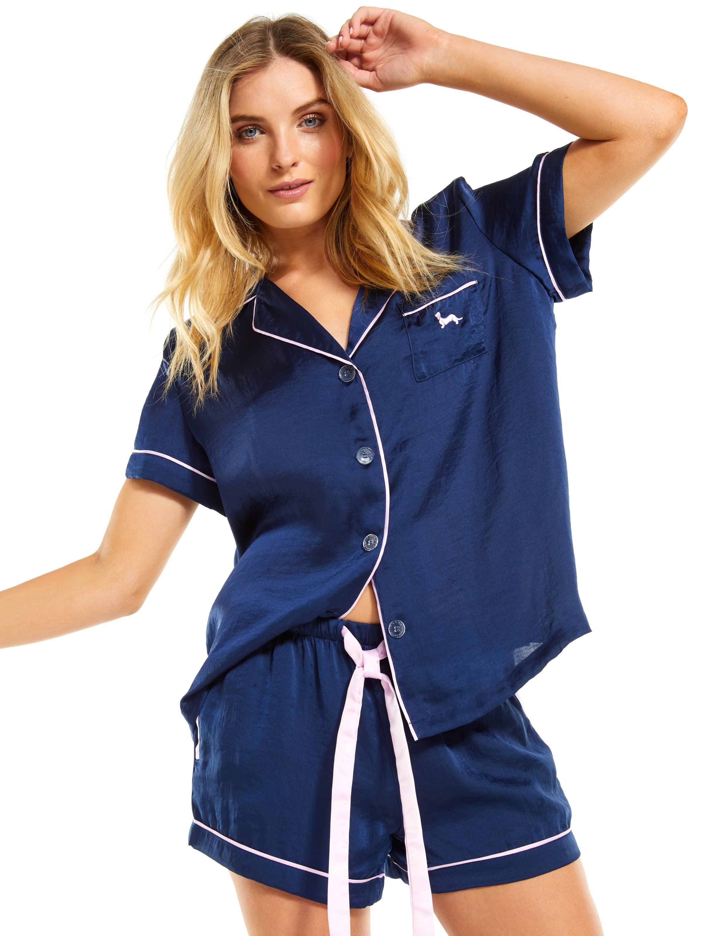 18e9f5a72b ... Image for Navy Chic Satin Pj Set from Peter Alexander ...