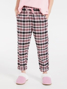 Beddy Byes Check Flannelette Roll Up Pant
