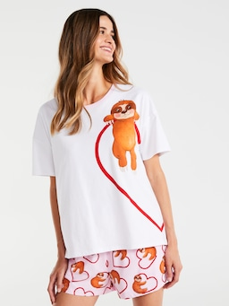 Left Heart Sloth Tee
