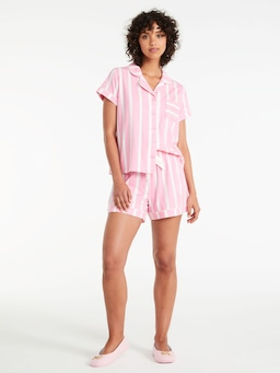 Bedtime Stripe Shortie Pj Set