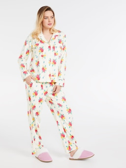 Posey Rosey Bamboo Flannelette Pj Shirt