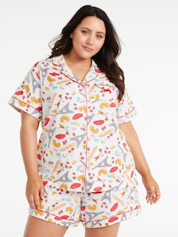 P.A. Plus Paris Icons Shortie Pj Set