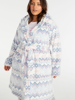 P.A. Plus Penny Fair Isle Hooded Gown