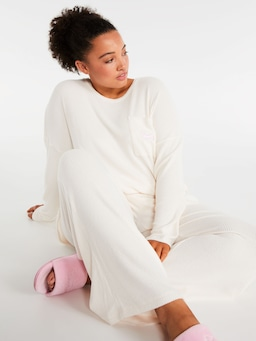 P.A. Plus Brushed Rib Pj Pant