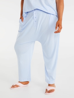 P.A. Plus Blue Comfy Drop Crotch Pj Pant