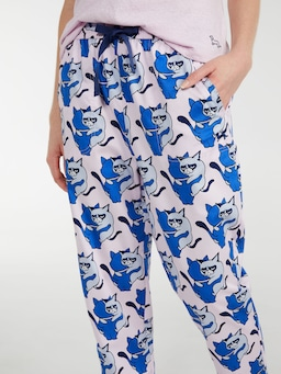 Cranky Cat 3/4 Roll Up Pj Pant