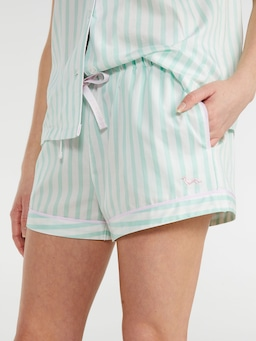 Mint Candy Stripe Tux Short