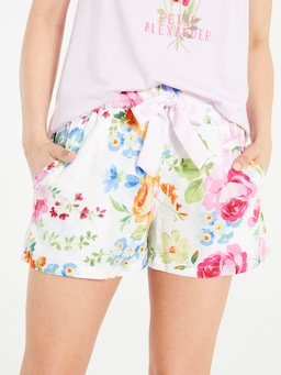 Bright Floral Long Short