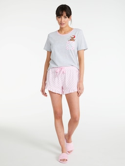 Candy Stripe Flutter Short
