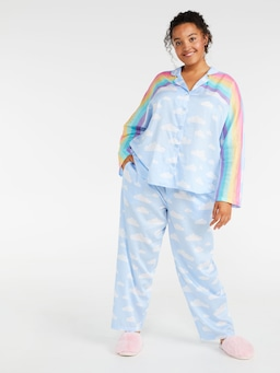 P.A. Plus Rainbow Long Pj Set