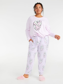 P.A. Plus Hugging Sloth Tapered Pj Pant