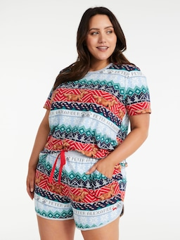 P.A. Plus Penny Fair Isle Long Short