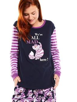 Disney We're All Mad Here Long Sleeve Top