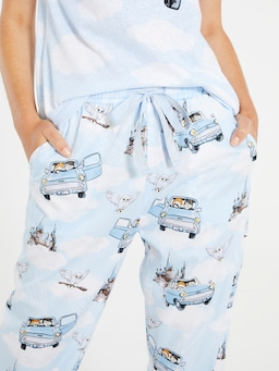 Harry Potter Flying Car Roll Up Pj Pant