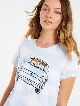 Harry Potter Flying Car Tee
