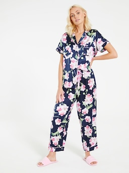 Orchid Viscose Silk Pj Set