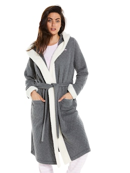 Quilted Hooded Gown
