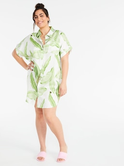 P.A. Plus Palm Leaf Boyfriend Nightshirt