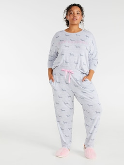 P.A. Plus Fuzzy Penny Tapered Pj Pant