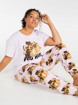 P.A. Plus Pug Hug Easy Pj Pant