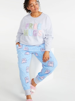 P.A. Plus Otter Cuddles Easy Pj Pant