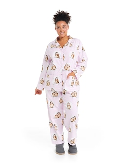 P.A. Plus Sweet Owl Flannelette Pj Set