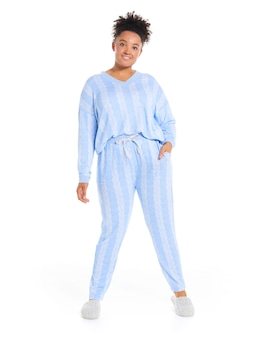 P.A. Plus Cable Fuzzy Easy Pj Pant