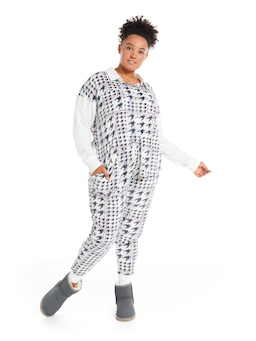 P.A. Plus Houndstooth Cosy Pj Set