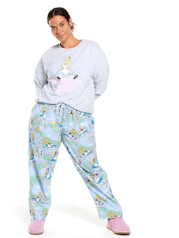 P.A Plus Disney Alice And Kitty Flannelette Pj Pant