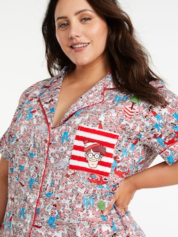 P.A. Plus Where's Wally Shortie Pj Set