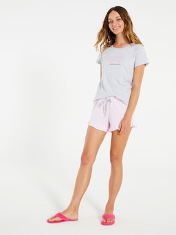 Pink Flutter Mini Short
