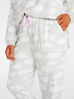 P.A. Plus Grey Cloud Plush Pj Pant