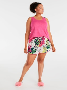 P.A. Plus Leopard Pom Pom Short