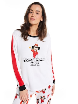 Mickey Mouse Club Waffle Long Sleeve Top