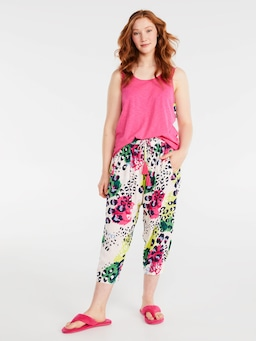 Leopard Drop Crotch Pj Pant