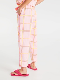 Window Pane Fashion 3/4 Pj Pant