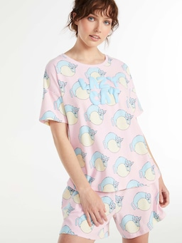 Lazy Cat Shortie Pj Set