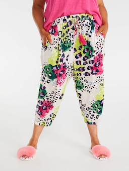 P.A. Plus Leopard Drop Crotch Pj Pant