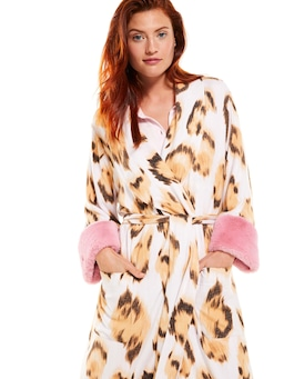 Leopard Luxe Fuzzy Gown