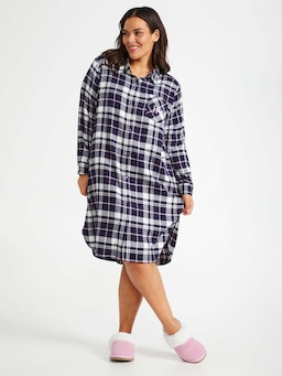 P.A. Plus Navy Bamboo Flannelette Nightshirt