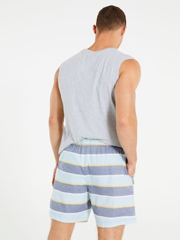 Beach Stripe Mid Short