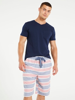 Sorrento Stripe Sleep Short