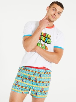 Mario Bros Brick Boxer Short