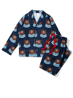 Jnr Boys Bear Flannelette Pj Set