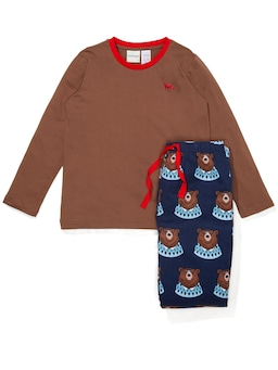 Boys Bear Flannelette Pj Set
