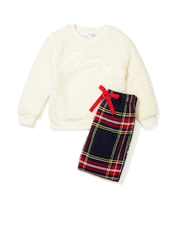 Jnr Boys Cosy Check Pj Set