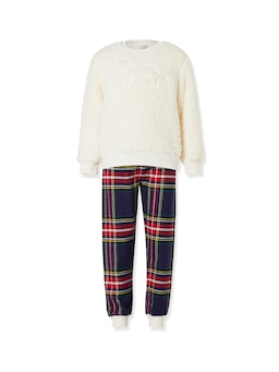 Boys Cosy Check Pj Set