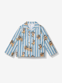 Jnr Boys Where The Wild Things Are Stripe Flannelette  Pj Set
