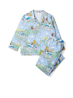 Jnr Girls Disney Alice & Dinah Flannelette Pj Set